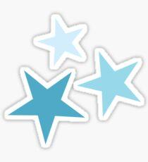 Stern in Teal gesetzt Sticker