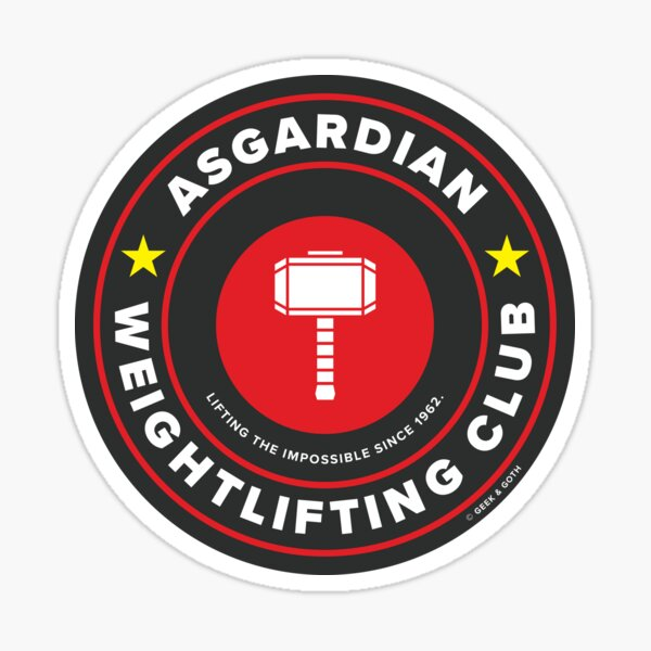 Asgardian Weightlifting Club Sticker