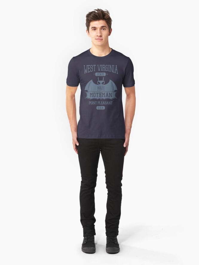 Alternate view of Mothman West Virginia Slim Fit T-Shirt