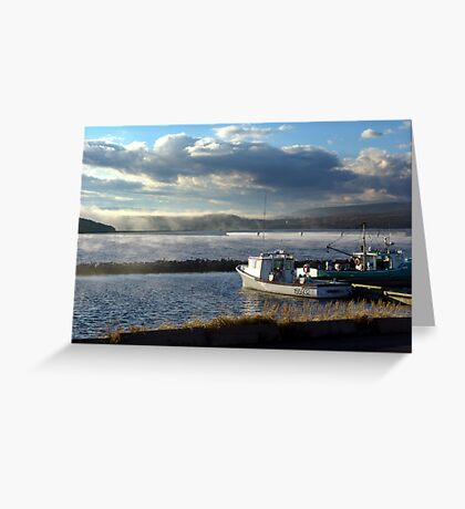 Morning at Margaree Harbour. Greeting Card