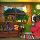 Abuela's Childhood Memories Paper Art by Cynthia De La Torre