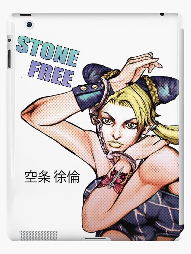 jolyne kujo stone free ipad cases skins by tatsuyea redbubble