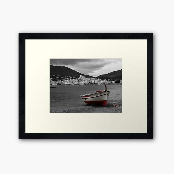The Red Boat at Cadaques Framed Art Print