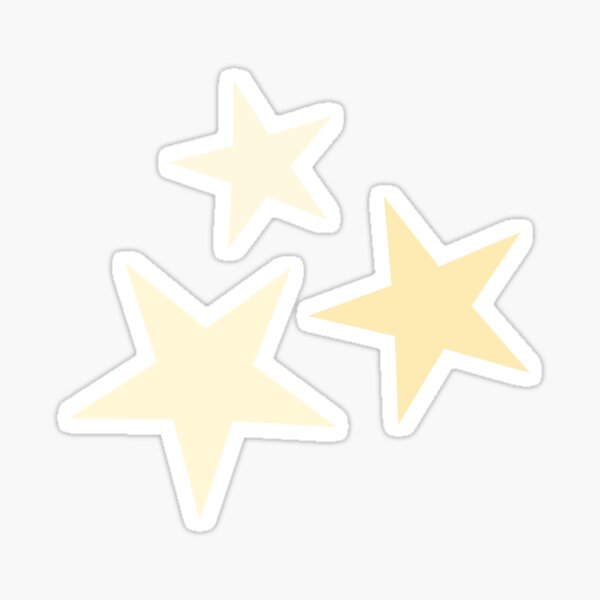 Star Set in Yellow Sticker