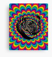 Pug Love Tie-Dye Explosion Canvas Print