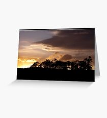 Sunset over Dufftown Greeting Card