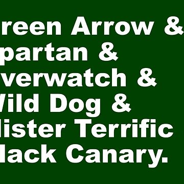 Team Arrow - Hero Codenames List by FangirlFuel