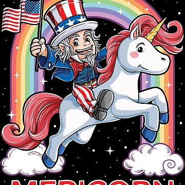 Mericorn Unicorn Uncle Sam 4th of July T shirt Kids Boys Girls Merica by LiqueGifts