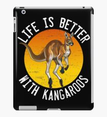 Life is better with kangaroos iPad Case/Skin