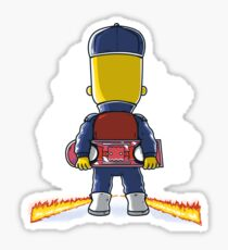 Bart to the Future Sticker