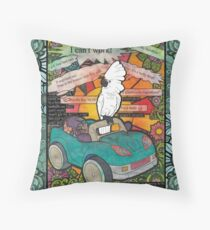 The mutterings of a mad cockatoo Throw Pillow