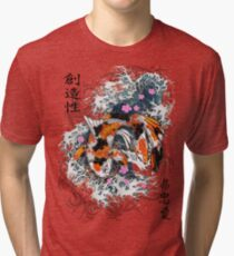 Thrashing Koi Tri-blend T-Shirt