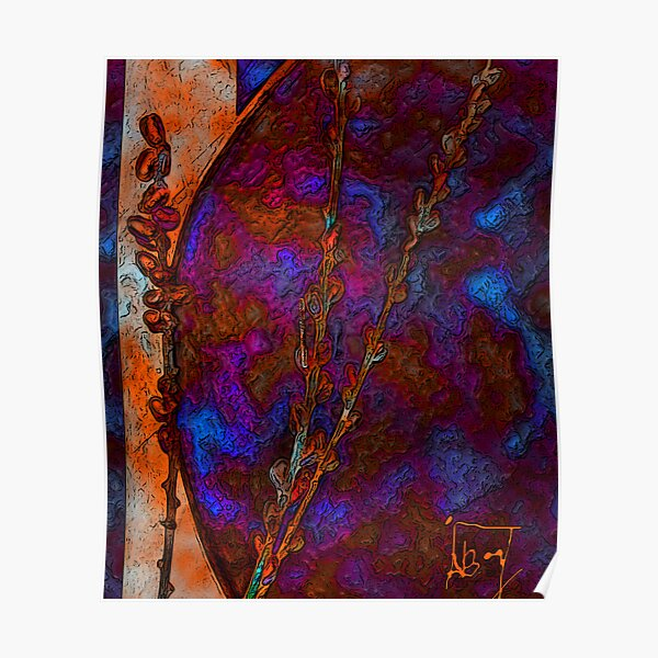 Dragon Silk with Willows Poster
