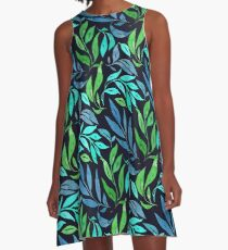 Loose Leaves - Cool A-Line Dress