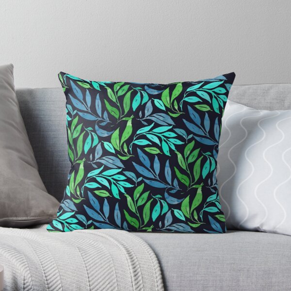 Loose Leaves - Cool Throw Pillow