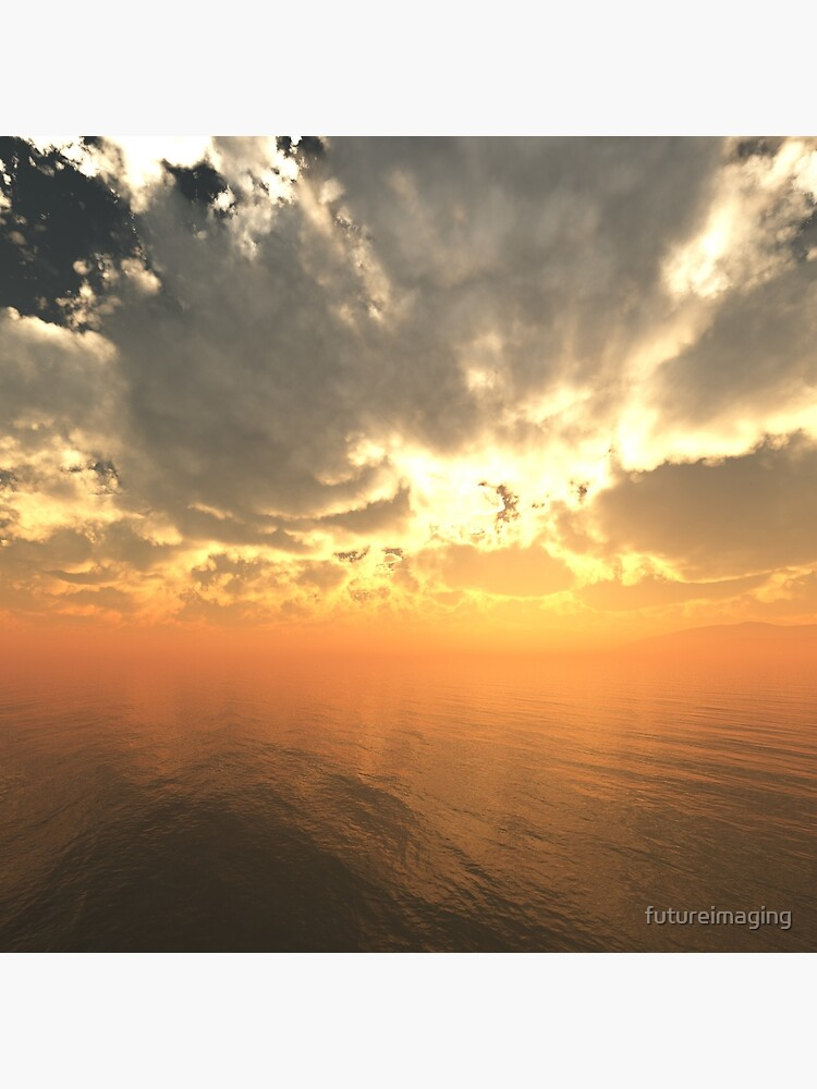 Cloudy Sunrise Over Water by futureimaging