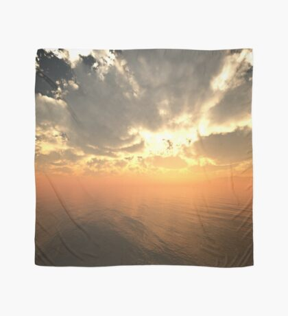 Cloudy Sunrise Over Water Scarf
