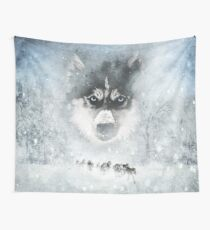 Tela decorativa Huskies de invierno