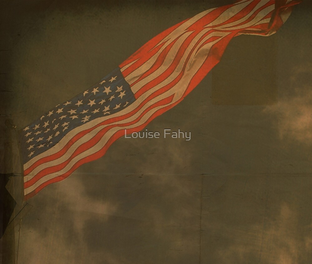 Antique American Flag by Louise Fahy