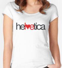 Love Helvetica Women's Fitted Scoop T-Shirt