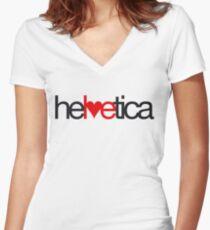 Love Helvetica Women's Fitted V-Neck T-Shirt