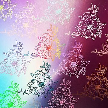 Metallic flower garden, beautiful,rose gold, flower pattern, silver,bronze,gold,ultraviolet,flowers,modern,trendy by love999
