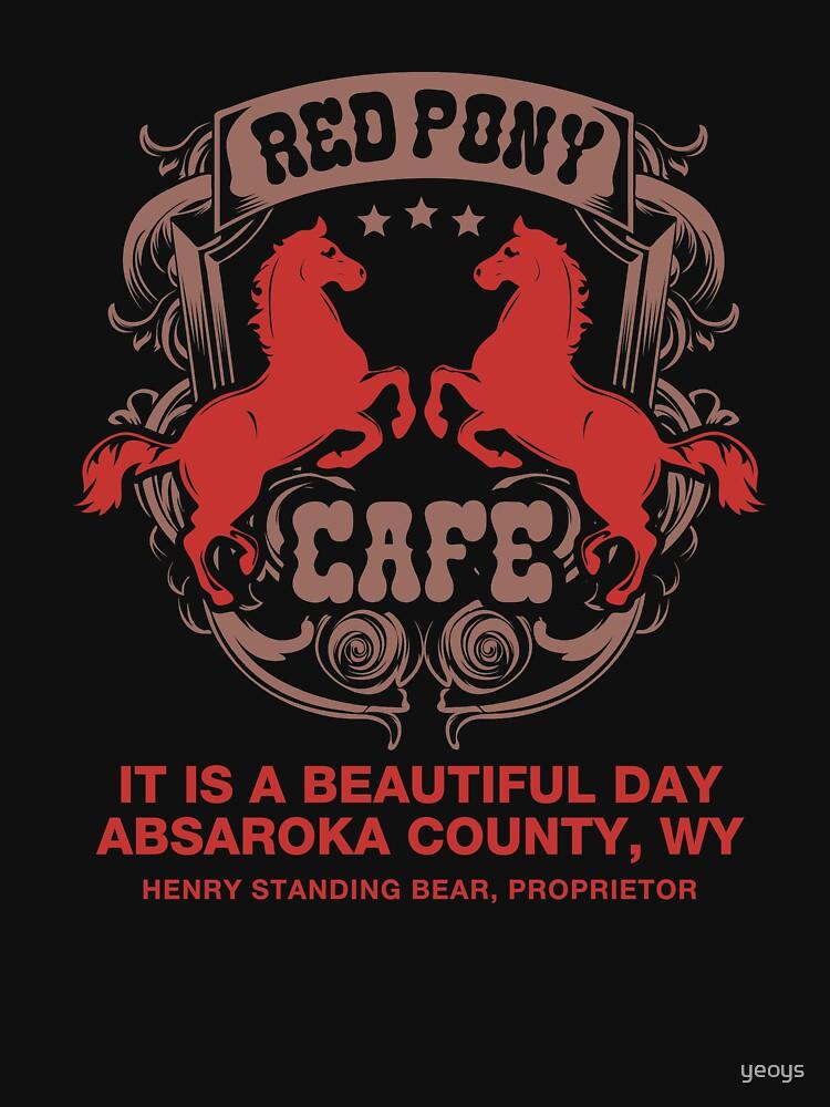 Red Pony Café - Funny Fandom Gift by yeoys