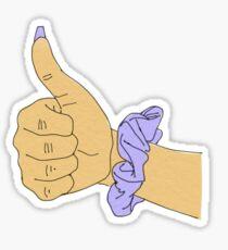 lavender scrunchie Sticker