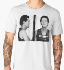 Jerry Lee Lewis Mug Shot Horizontal Mugshot Men's Premium T-Shirt