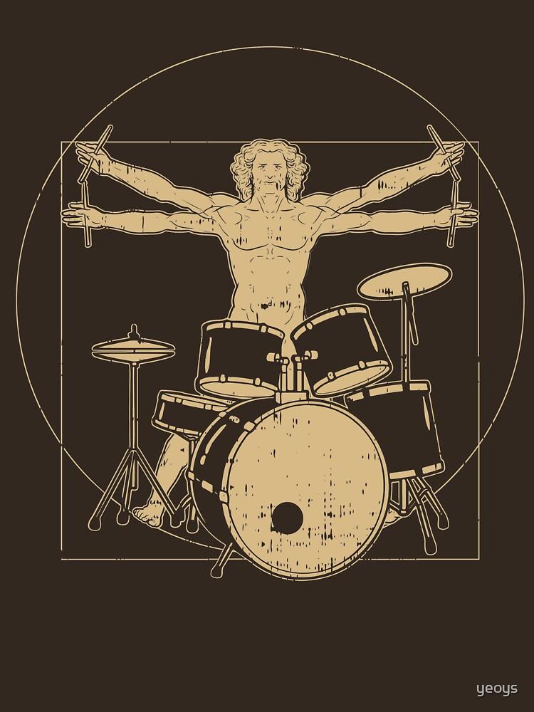 Vitruvian Drummer - Funny Music Gift von yeoys