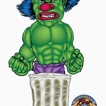 Evil Clown T Shirt Hulk Style by bear77