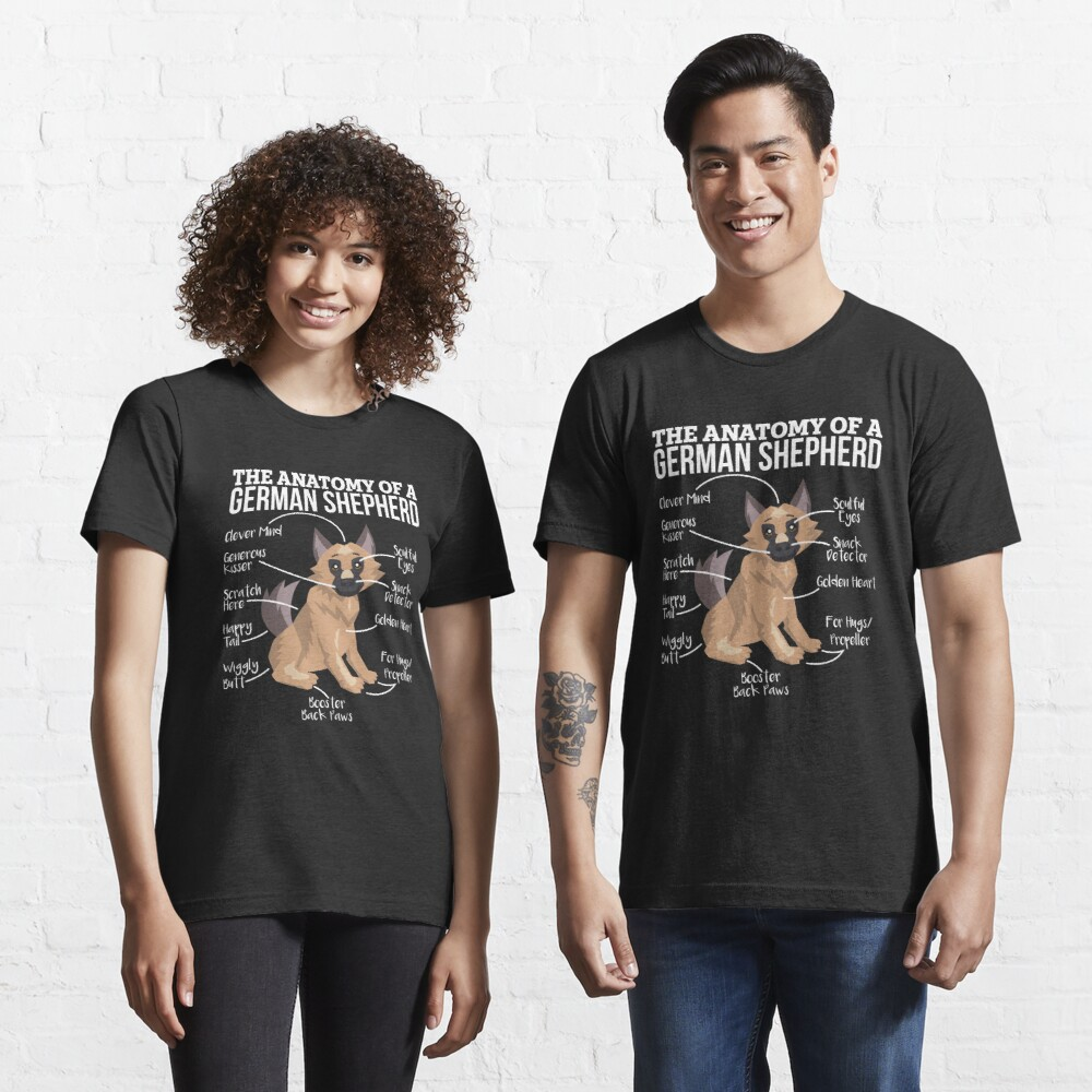 Anatomy Of A German Shepherd - Funny Dog Lover Gift Essential T-Shirt