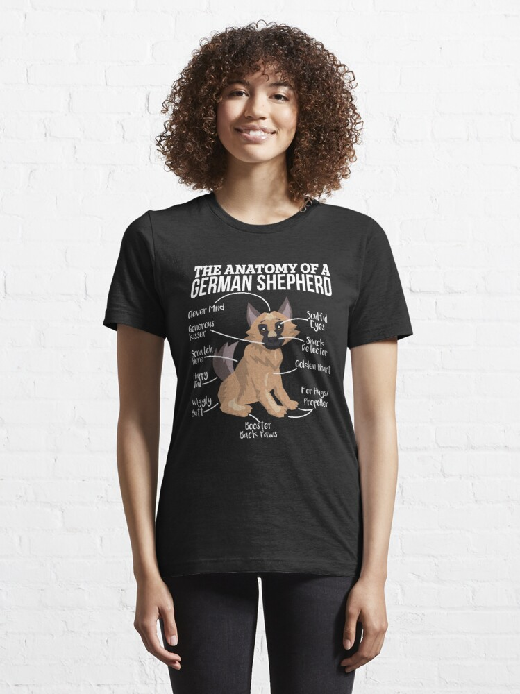 Alternate view of Anatomy Of A German Shepherd - Funny Dog Lover Gift Essential T-Shirt