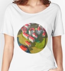 virtual model with red houses Women's Relaxed Fit T-Shirt