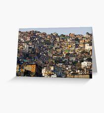 Rocinha Favela, Rio De Janeiro, Brasil Greeting Card