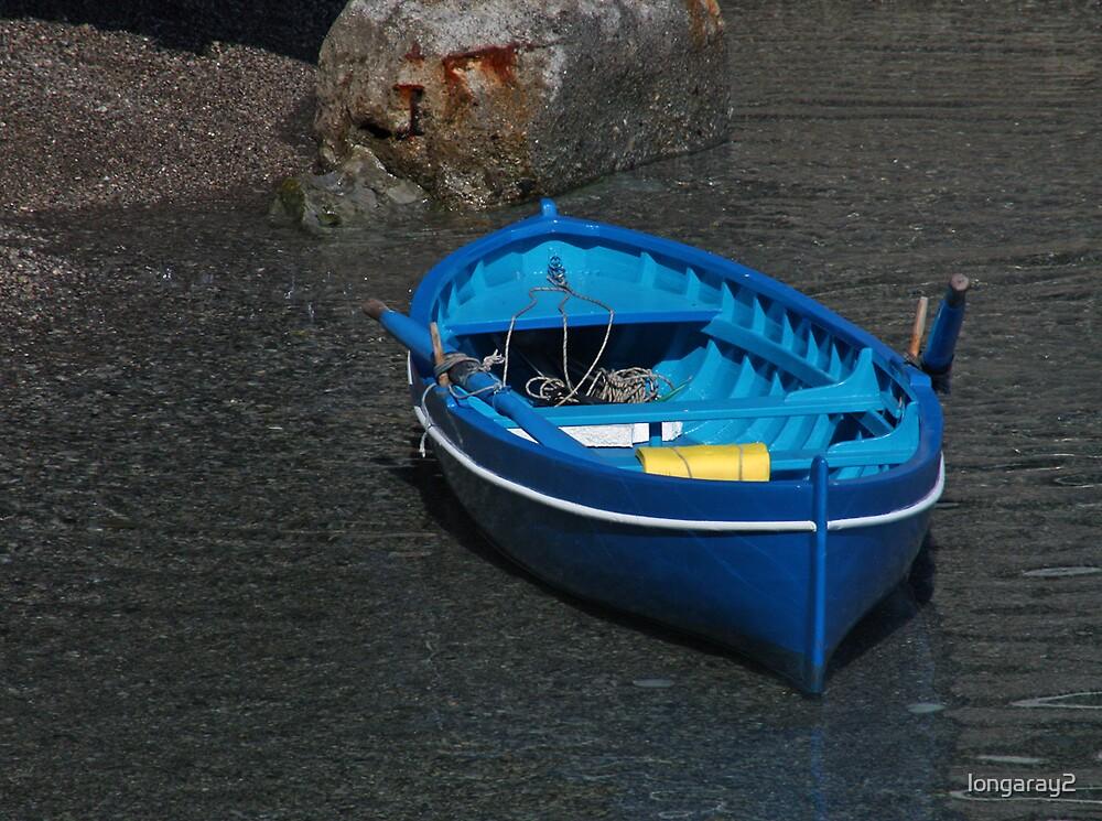 Amalfi Blue Boat by longaray2