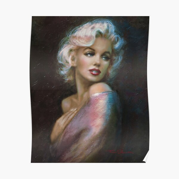 Theos Marilyn WW Blue Poster