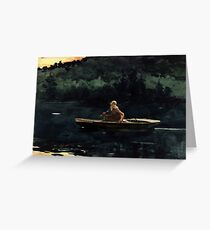 Winslow Homer The Rise Greeting Card