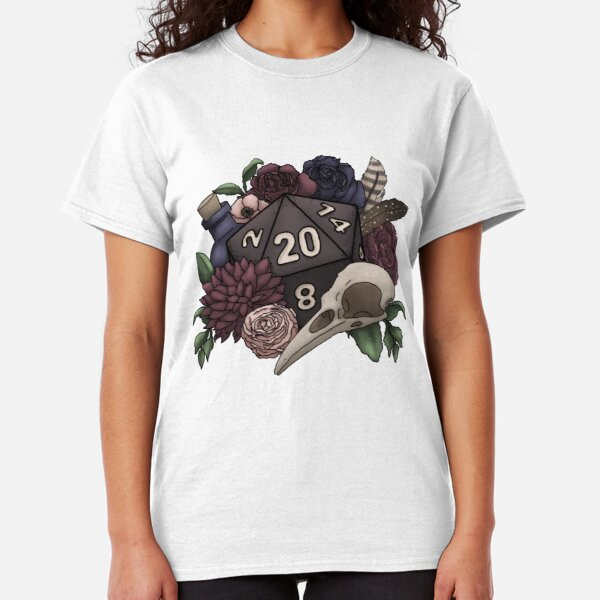 Necromancer D20 Tabletop RPG Gaming Dice Classic T-Shirt