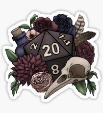 Necromancer D20 Tabletop RPG Gaming Dice Sticker