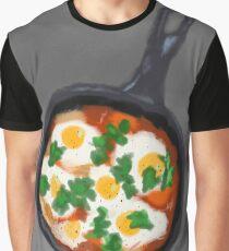 Shakshuka Digital Illustration Graphic T-Shirt