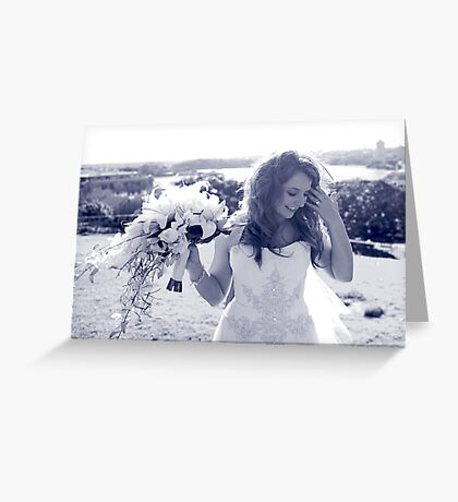 Lou Blue Greeting Card