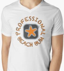 Professional Beach Bum Men's V-Neck T-Shirt