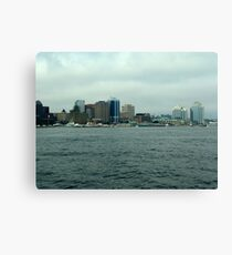 Waiting for the Sailpast-Halifax Canvas Print