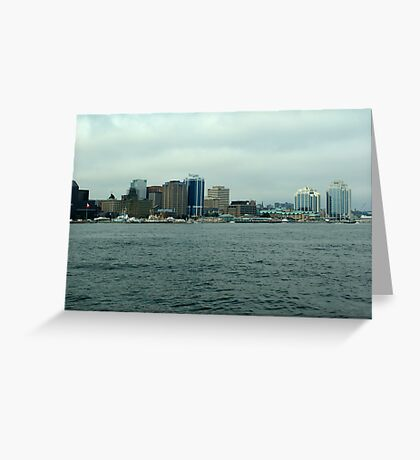 Waiting for the Sailpast-Halifax Greeting Card
