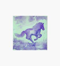 Blaues Aquarell Pferd Galeriedruck