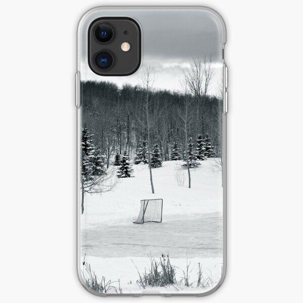 Retro style Ice hockey red white blue iphone 11 case