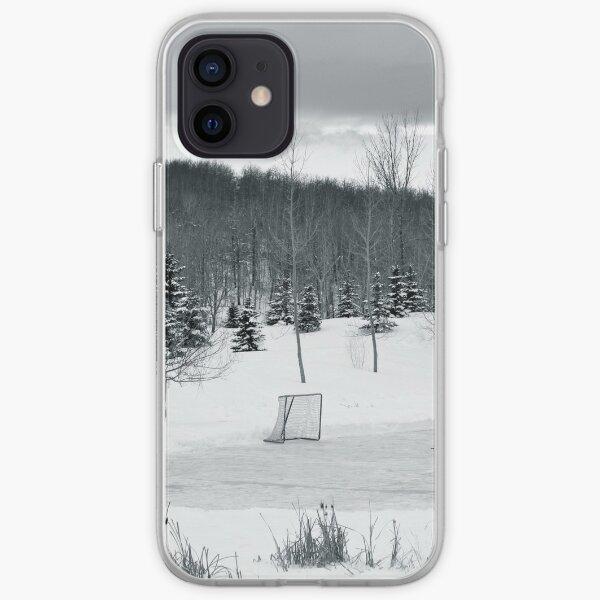 Hockey sur étang noir et blanc Coque souple iPhone