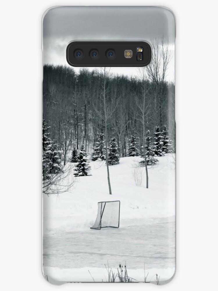 Black and White Pond Hockey von BrettAlcorn