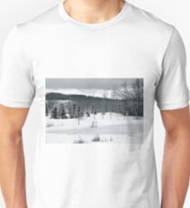 Black and White Pond Hockey Unisex T-Shirt